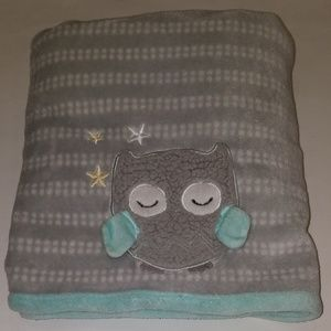 Parent's Choice Gray Sleeping Owl Baby Blanket